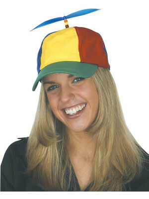 Nerds Costume (Adults Nerds Multicolored Propeller Hat Cap Costume)