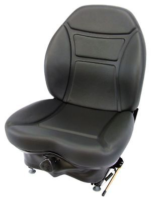 Milsco Brand Cr100 Black Vinyl Seat And Suspension For Multiple Machines