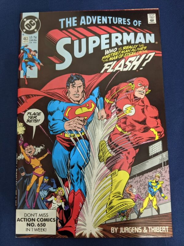 ADVENTURES OF SUPERMAN #463 D.C. COMICS 1990 MISTER MXYZPTL APPEARANCE UNPRESSED