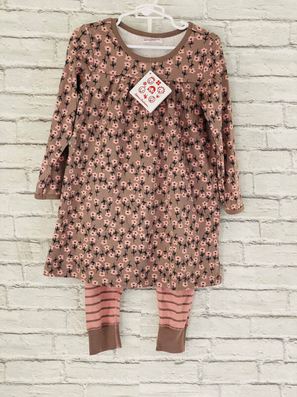 NWT Hanna Andersson Pull Over Dress & Leggings size 100 3-5 years