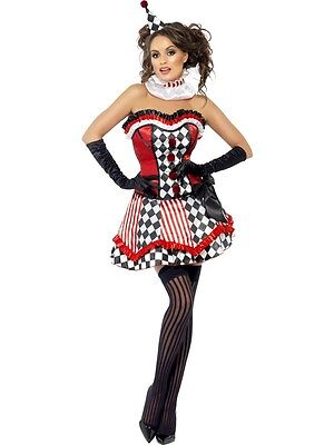 Sexy Halloween Adult Boutique Clown Cutie Costume w Corset Top & Hat](Boutique Halloween Costumes)