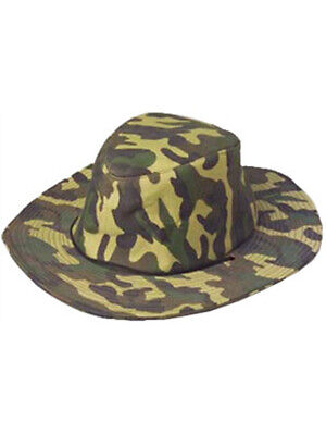 Mens Womens Adult Camouflage Cowboy or Cowgirl Hat](Camo Straw Cowboy Hat)