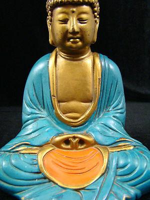 Antique, Art-Deco, ca1920s, New York Pompeian Bronze Co. Buddha Bookend Figurine