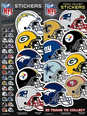 (NFL Team Helmet Football Sticker, some teams are buy one get one free)