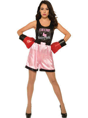 Ultimate World Champion Female Boxer Champ Womens Costume - Woman Boxer Costume