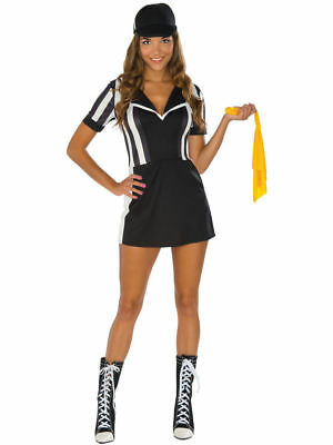Adult Women's Sexy Superbowl Touchdown Babe Referee Dress Costume Halloween Smal