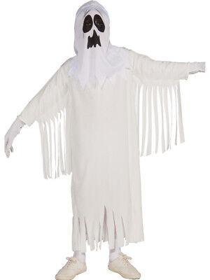 Child Boys Girls White Ghost Poltergeist Costume Medium 8-10 - Childrens Ghost Costumes
