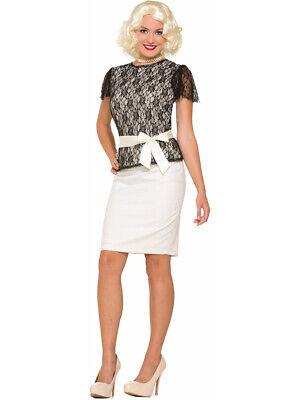 Women's Standard 14-16 Roaring 20s Black Lace Costume Shirt - Roaring 20s Costumes For Women
