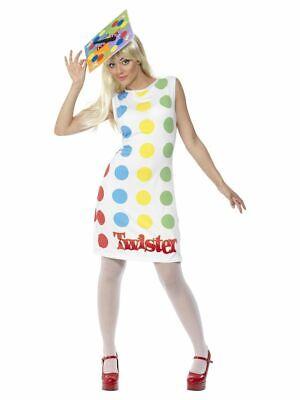 SMIFFY 31847 90er Jahre Twister Ladies Gaming Spiel Karneval Damen Kostüm bunt