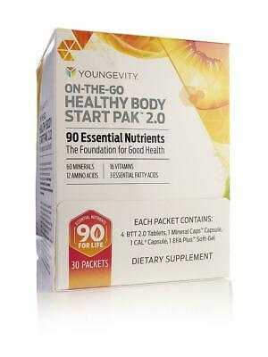 Youngevity On The Go Healthy Body Start Pak 2.0 30 packets by Dr Wallach Pak 30 Paks