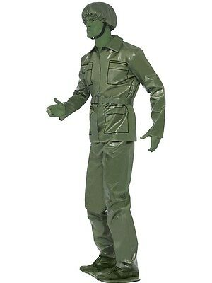 FANCY DRESS TOY SOLDIER GREEN LAND SEA AND AIR FORCES + OPTIONAL GREEN MAKE - Kostüm Anderen Land
