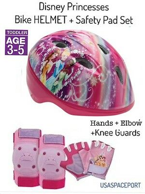 Disney Princess BIKE HELMET +GLOVES +ELBOW +KNEE PAD SET Sco