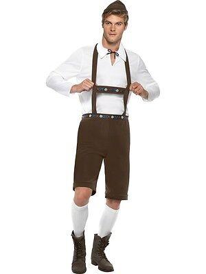 Bavarian Man Costume Oktoberfest Lederhosen Beer Festival German Hunk Adult - Mens Lederhosen Costume