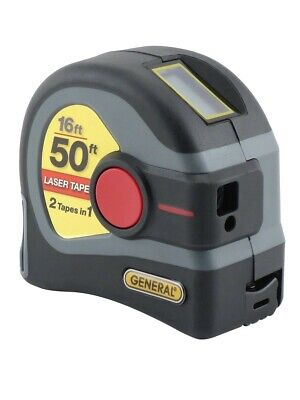 General Tools Ltm1 2-in-1 Laser Tape Measure Lcd Digital Display 50 Laser Mea