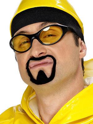 Erwachsene Ali G Gesichts- Haar Schnurrbart und Spitzbart Bart Set - Spitzbart Und Schnurrbart Kostüm