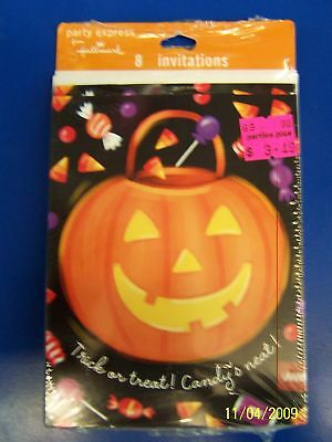 Happy Candy Eating Halloween Carnival Party Invitations