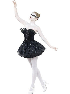 Adult Sexy Black Swan Gothic Masquerade Costume  - Black Swan Costumes