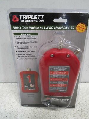 Triplett Add-on Video Test Module For Low Voltage Pro Cable Testers Vtm-kit