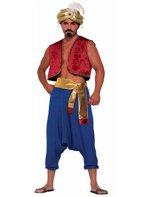 Adult's Desert Arabian Persian Prince Red Genie Vest Costume - Persian Halloween Costumes