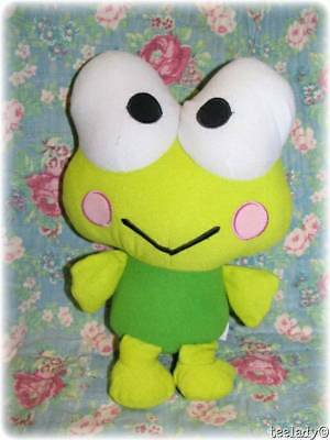 "Sanrio Hello Kitty Keroppi Frog Plush Stuffed Lovey 11"" New NWOT"