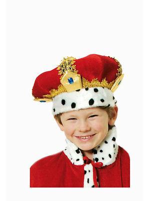 Königskrone in Samt und in gold, für Kinder ()