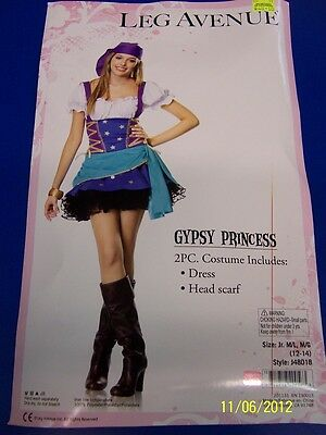 2 pc. Gypsy Princess Fortune Teller Pirate Dress Up Halloween Sexy Teen Costume
