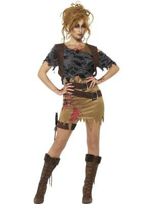 SMI - Damen Kostüm Zombie Abenteurerin Jägerin - Jägerin Kostüm Damen