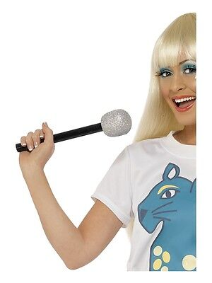 Silber Glitzer - Glitzer Mikrofon
