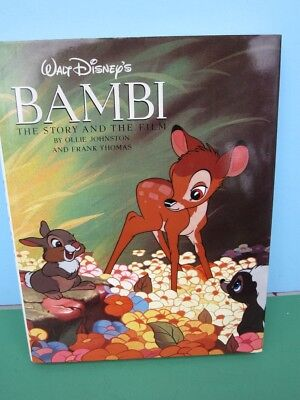 1990 BAMBI The Story and The Film - HC Book -1st Edition - Johnston & Thomas