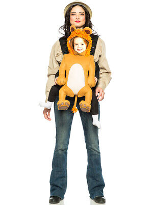 Adult's Baby And Me Safari Lion Carrier Costume Accessory Kit - Baby And Me Costumes