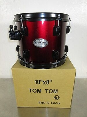 "Pearl Soundcheck Rack Tom - 10 x 8"" - Wine Red w/ Black Hardware - Mahognay"