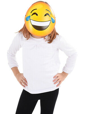Texting Emoticon Emoji Crying Laugh Face Mask Costume Accessory](Halloween Emoji Text)