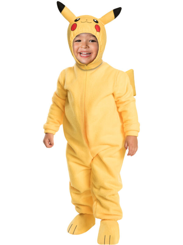 Toddler Pokemon Pikachu Romper With Headpiece Costume 2T-3T 2-3