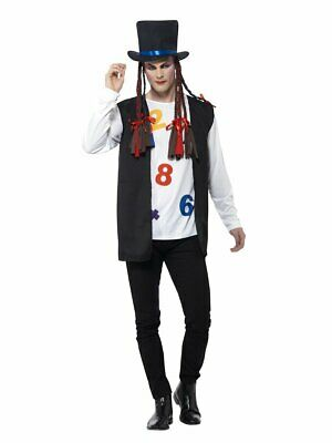 Smiffys 80s Pop Star Music Boy George Hat Adult Mens Halloween Costume 44630