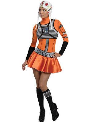 Adult Womens Star Wars Female X-Wing Fighter Pilot Costume X-Small 0-2](Original Female Halloween Costumes)