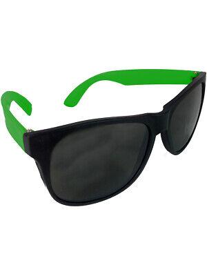 Retro 90s Days of Thunder Neon Green & Black Sunglasses