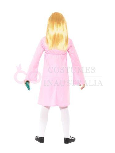 Roald Dahl Deluxe Sophie Pink Book Girl Childs Kids Girls Fancy Dress Costume