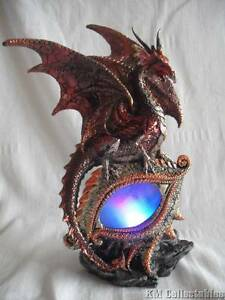 Red Eye of the Dragon.Multi Colour Changing Illuminating Eye Free P&P Ornament