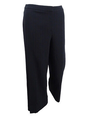- Tahari ASL Women's Petite Cropped Wide-Leg Crepe Pants (12P, Black)