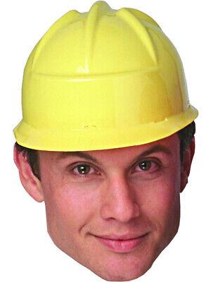 Yellow Construction Crew Costume Hard Hat Toy Helmet