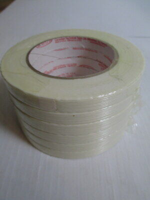 6 Rolls Cantech 12 X 60 Yds Filament Reinforced Strapping Tape Usa 179-00