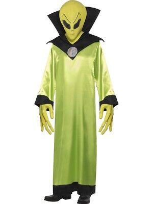 Alien Lord Costume (Alien Lord Costume Green Adult Horror Halloween Alien Fancy Dress)