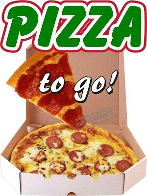Pizza To Go Box Slice Vinyl Decal Choose Size Concession Stand Boardwalk Shops