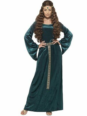 Medieval Maid Costume Women's Renaissance Green Fancy Dress Plus Size 1X-2X - Plus Size Renaissance Halloween Costumes