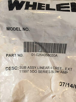 Whelen Liberty 1 500 Series Blue 01-026a068020a New In Original Packing