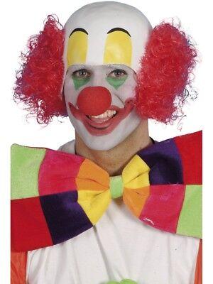 Rot Haare Clown Perücke mit Glatzkopf Zirkus Comedy - Glatzkopf Kostüm Perücke