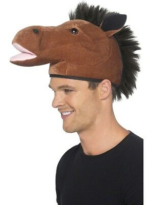 Braun Pferd Hut Kopf Rennen Tag Neuheit Erwachsene - Kopf Pferd Kostüm