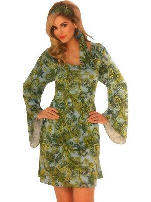 Women's 70s Disco Dancing Queen Boogie Down Floral Dress Costume