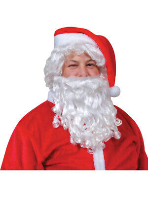 Santa Claus Wig And Beard Set (Santa Claus White Wig And Beard Set Costume)