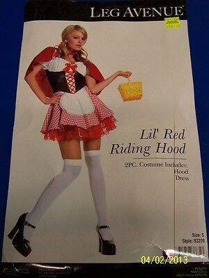 2 pc. Lil' Red Riding Hood Fantasy Fancy Dress Up Halloween Sexy Adult Costume](Lil Red Costume)